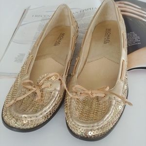 Michael by Michael Kors sequin boat shoes